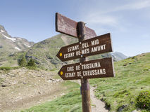 Andorra. Information signs for the hikers in Andorra Stock Images
