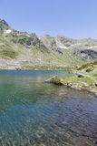 Andorra in July. Lake in the Pyrenees at summer Royalty Free Stock Photography