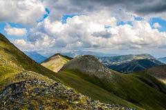 Andorra la vella,beyond clouds. Stock Photo