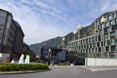 Andorra la Vella. Center of Andorra la Vella, Modern Andorra Royalty Free Stock Photography
