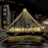 Andorra la Vella, night and water royalty free stock images