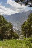 Andorra la Vella seen from a distance Royalty Free Stock Image