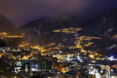 Andorra la Vella town. Andorra Royalty Free Stock Photography
