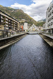 Andorra la Vella Valira river Stock Photography