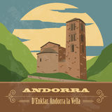 Andorra landmarks. Retro styled image Royalty Free Stock Photography