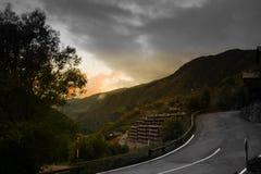 Andorra-Landstraße stockfotos