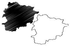 Andorra map vector Stock Photos