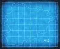 Andorra mapy błękitnego druku grafiki ilustraci sylwetka Obrazy Royalty Free