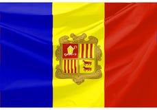 Andorra-Markierungsfahne Lizenzfreie Stockbilder