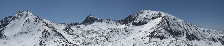 Andorra mountains pano Stock Images