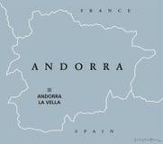 Andorra political map Royalty Free Stock Photos