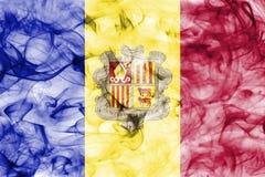 Andorra-Rauchflagge Lizenzfreies Stockfoto