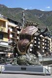 Andorra. Reloj Dali. Imágenes de archivo libres de regalías
