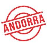Andorra rubber stämpel royaltyfri foto