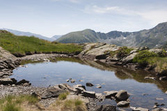 Andorra. Small pond in the Pyrenees in Andorra Royalty Free Stock Photography