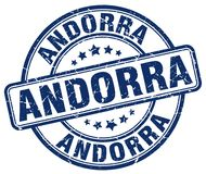 Andorra stamp. Andorra round grunge stamp isolated on white background. Andorra