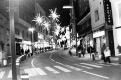Andorra streets black and white royalty free stock photos