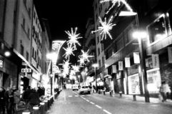 Andorra streets black and white royalty free stock photography