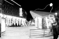 Andorra streets black and white royalty free stock image