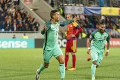 Andorra v Portugalia, FIFA - 2018 puchar świata określnik fotografia stock