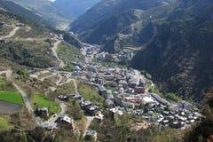 Andorra van vogelvlucht Stock Afbeelding