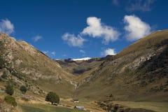 Andorra in autumn, view at Mirador Roc Del Quer stock images