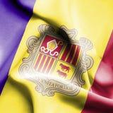 Andorra waving flag stock illustration