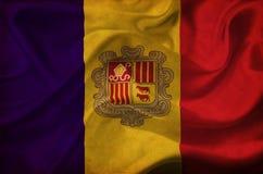 Andorra waving flag royalty free illustration