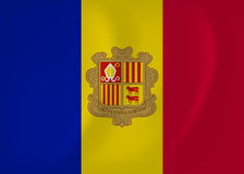 Andorra waving flag Stock Photo