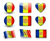 The Andorran flag Royalty Free Stock Images