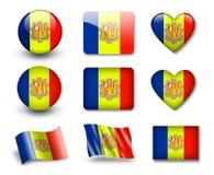 andorran flaga Obrazy Royalty Free