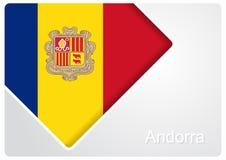 Andorran flaga projekta tło również zwrócić corel ilustracji wektora ilustracja wektor