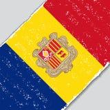 Andorran grunge flaga również zwrócić corel ilustracji wektora Fotografia Royalty Free