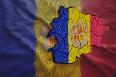 Andorran mapa Zdjęcie Royalty Free