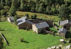 Andorrian hamlet. Wild landscape and andorrian hamlet Stock Photography