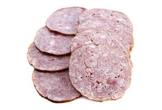 Andouille sausage stock photo