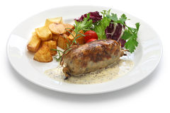 Andouillette, french lyonnaise sausage Royalty Free Stock Photos