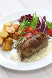 Andouillette, french lyonnaise sausage Royalty Free Stock Image