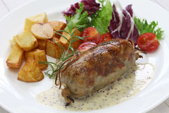 Andouillette, french lyonnaise sausage Stock Images