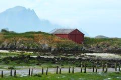 Andoya, Norway. Andoya (Norwegian: Andøya) is the northernmost island in the Vesterålen archipelago, situated about 300 kilometres (190 mi) inside the Arctic Stock Photo