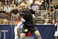 André Agassi - légendes de tennis sur la cour 2011 photo stock