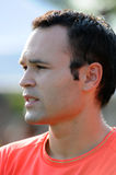 Andrés Iniesta. Portrait of FC Barcelona midfielder Andrés Iniesta.  Prominent and valuable super star of coach Pep Guardiola's 2008-2009 squad Stock Image