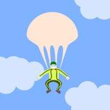 Andra hoppa fallskärm Royaltyfria Foton