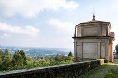 Andra kapell på Sacro Monte di Varese italy royaltyfri bild