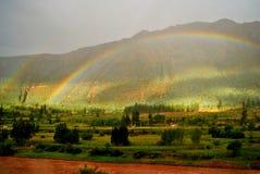 Andra komma för regnbåge Arkivfoto