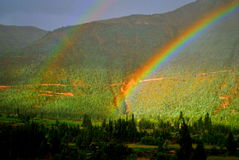 Andra komma för regnbåge Arkivbilder