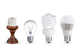 Andra sätt av belysning Arkivbild