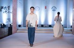 Andra serie Dao Yi-Fashion Show Arkivfoto