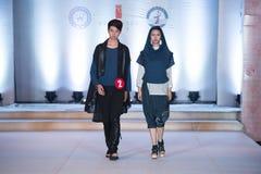 Andra serie Dao Yi-Fashion Show Arkivbild