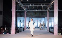 Andra serie Dao Yi-Fashion Show Arkivfoton